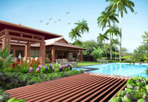 exterior house 3D visualization hawaii