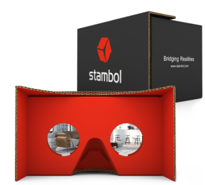 Google Cardboard with Stambol Logo