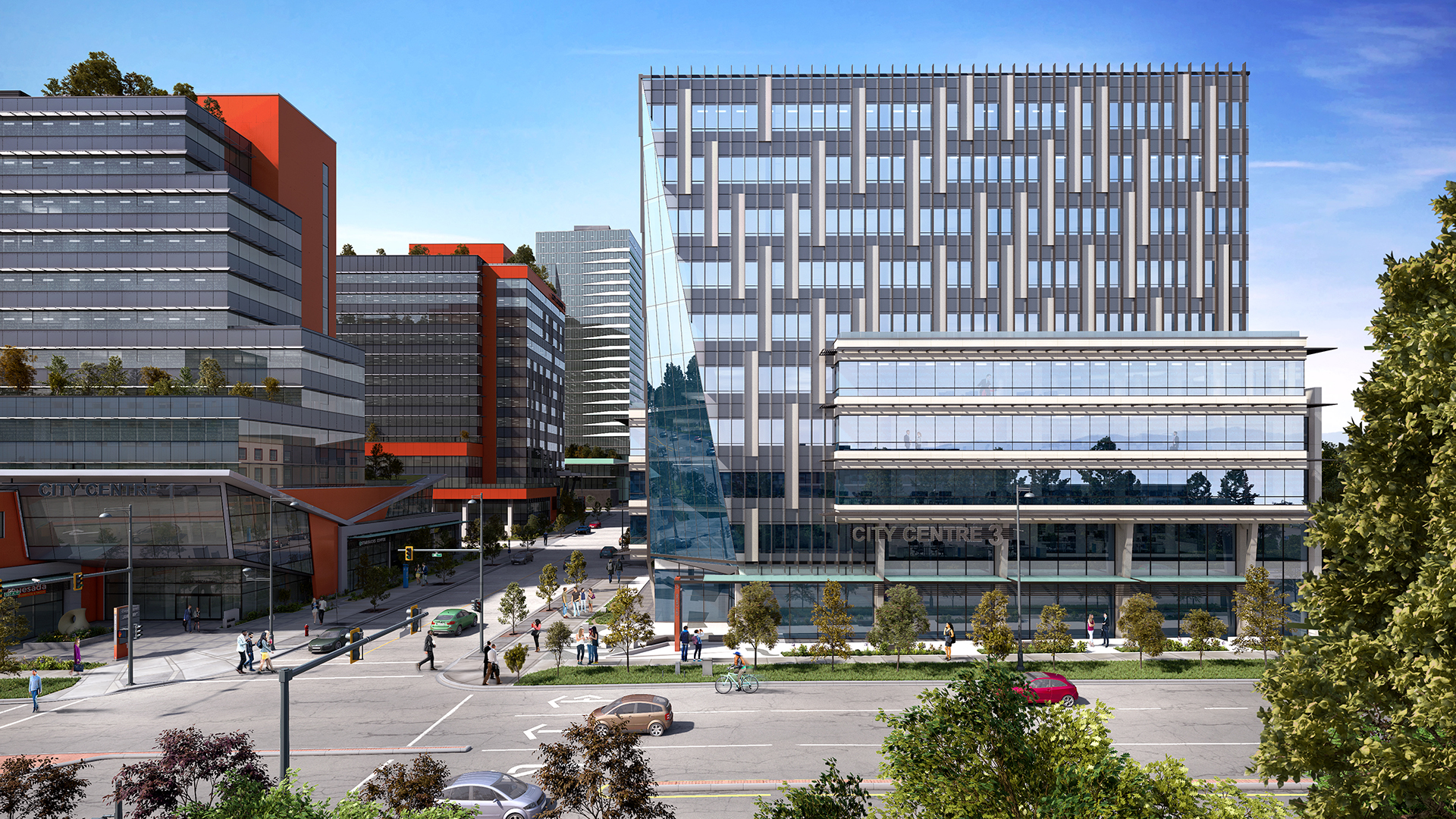 Health and Technology District wide angle render