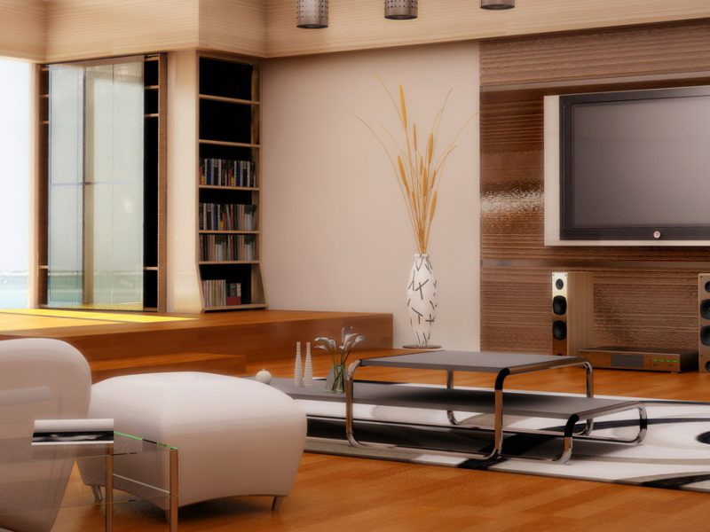 3D living room rendering