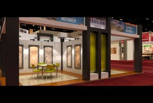 Exhibit design render for The Ultimate Tile & Stone Show