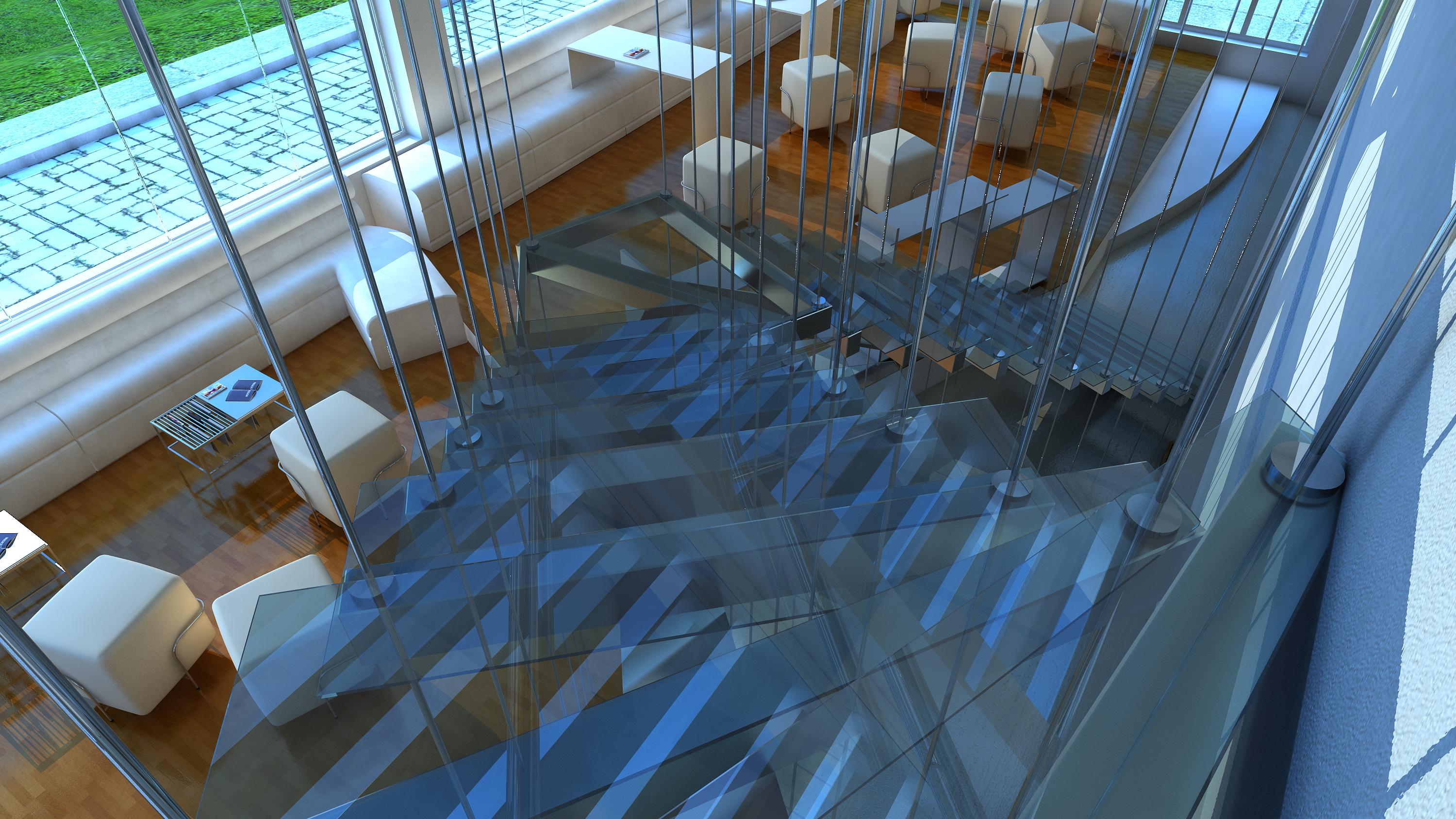 concept architecture studio stairs visualization