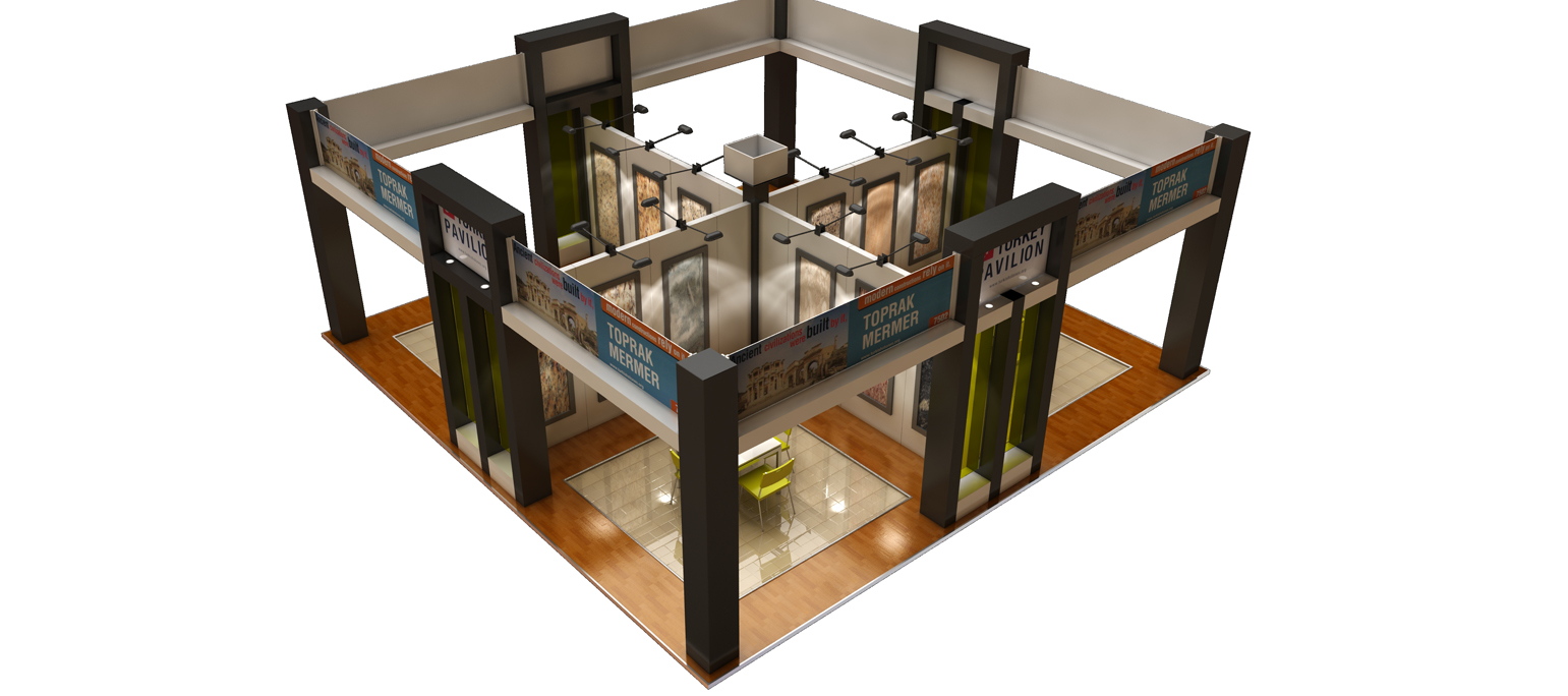 3D floor plan of an exhibit