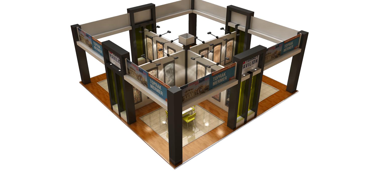 3D floor plan of an exhibit