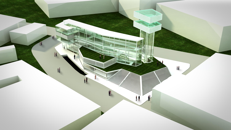 concept science museum exterior rendering