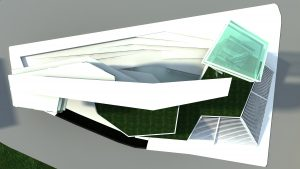 concept science museum exterior rendering from top
