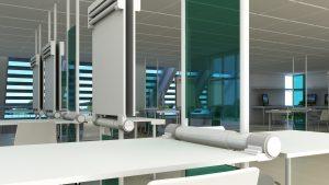architecture studio interior 3D visualization tables