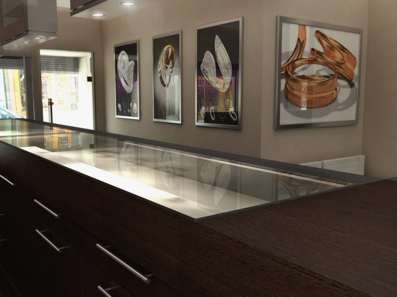 retail store interior 3D render