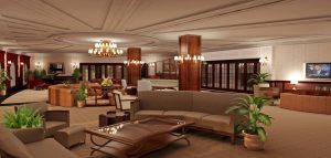 large house living area rendering