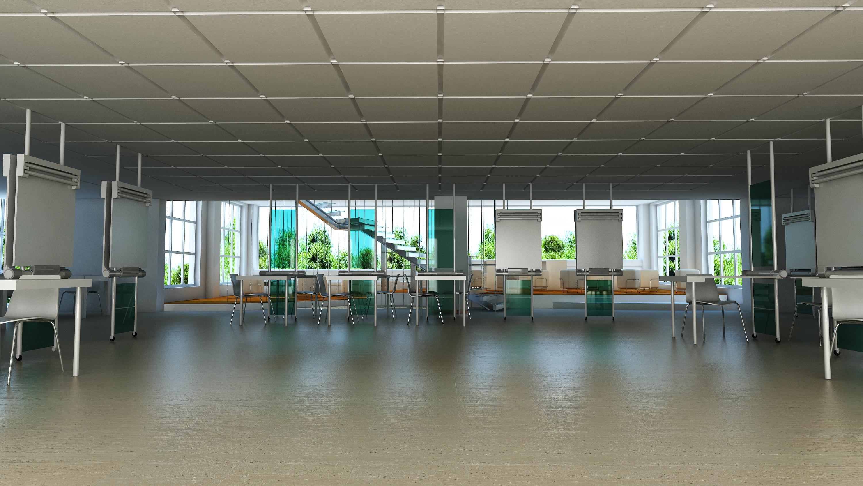 architecture studio interior 3D visualization