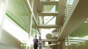 science museum concept interior visualization
