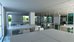 architecture studio interior rendering