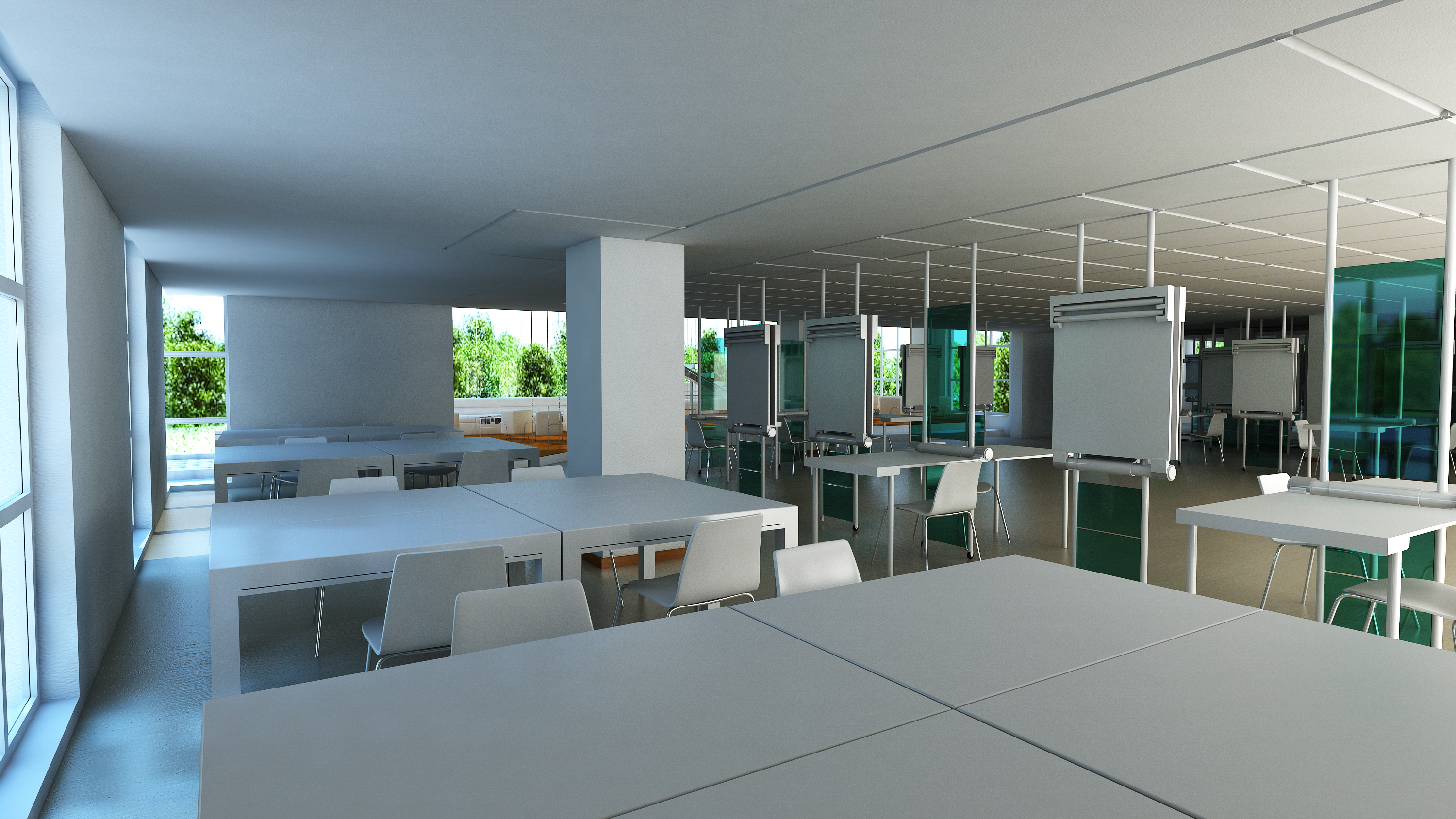 Interior renderings of an architecture studio stambol for Interior architecture studium