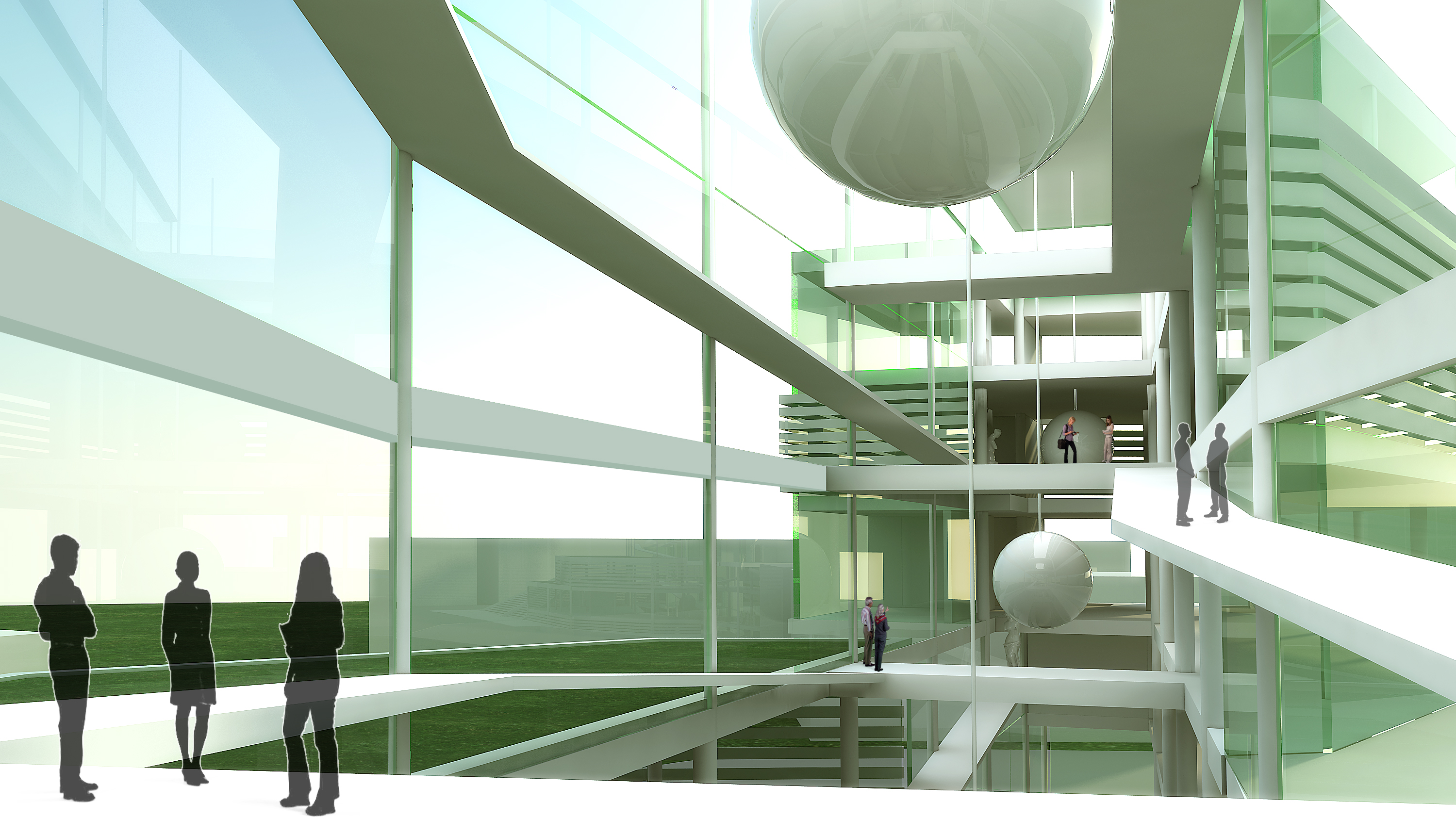 science museum concept interior visualization