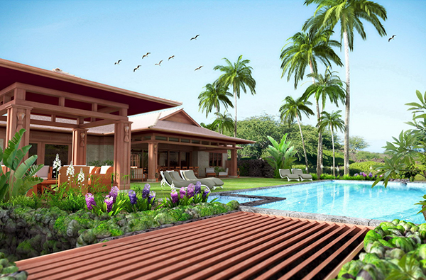 exterior house visualization hawaii
