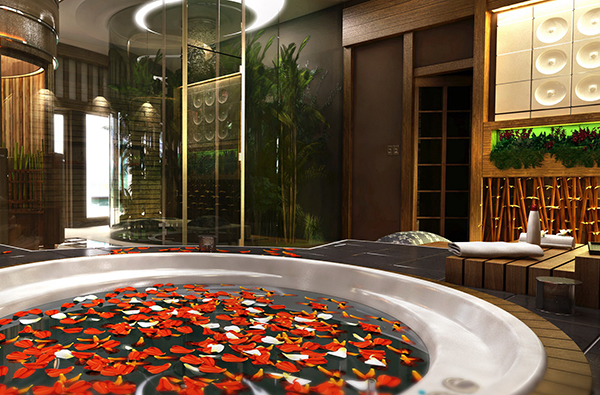 spa interior rendering