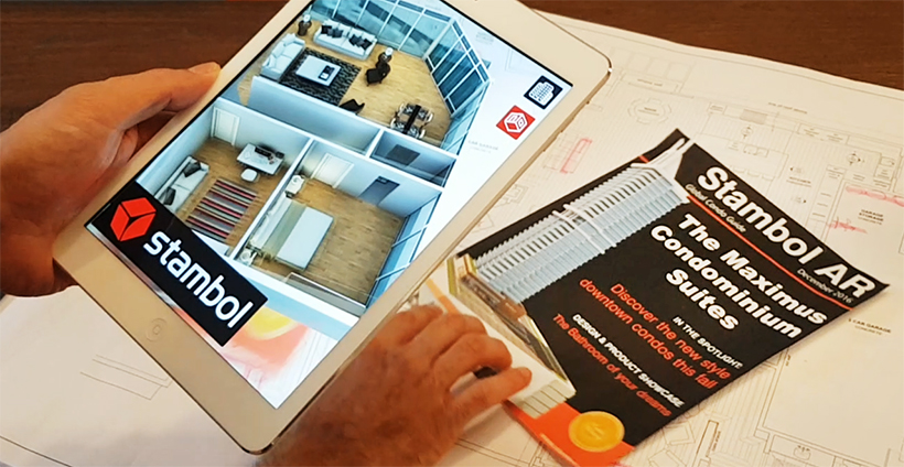 Stambol Augmented Reality App for a floor plan