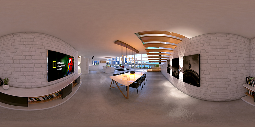 360 degree photo interior apartment