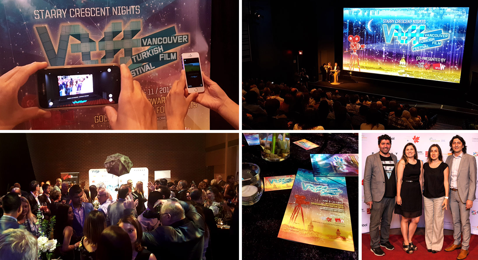 Collage of images from VTFF Opening Gala Event