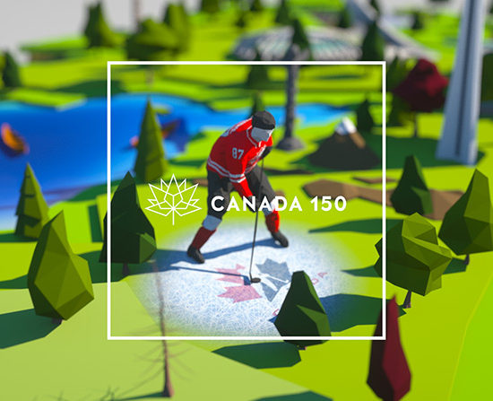Screenshot from Canada 150 Video by Stambol Studios
