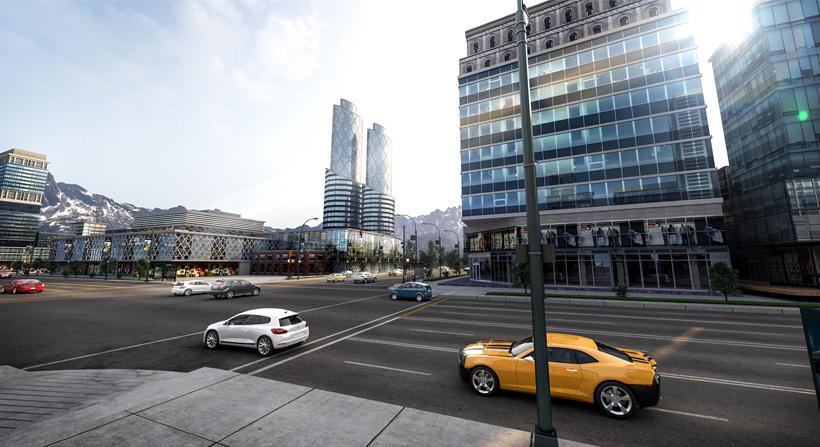 hyper realistic exterior rendering