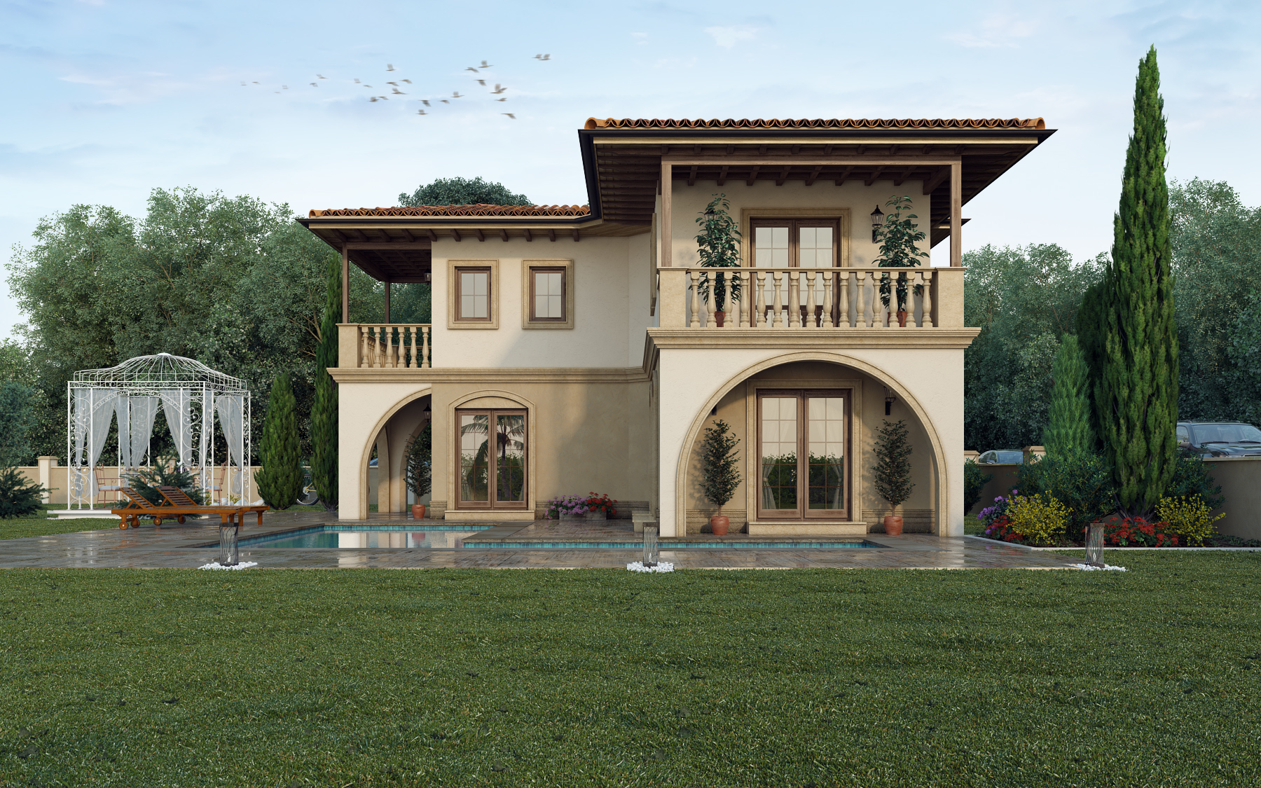 house rendering from front