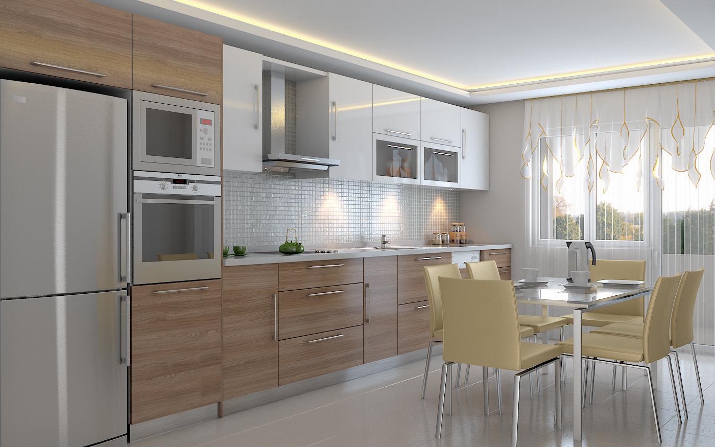 Condo unit interior visualizations stambol studios for 3d kitchen cabinets