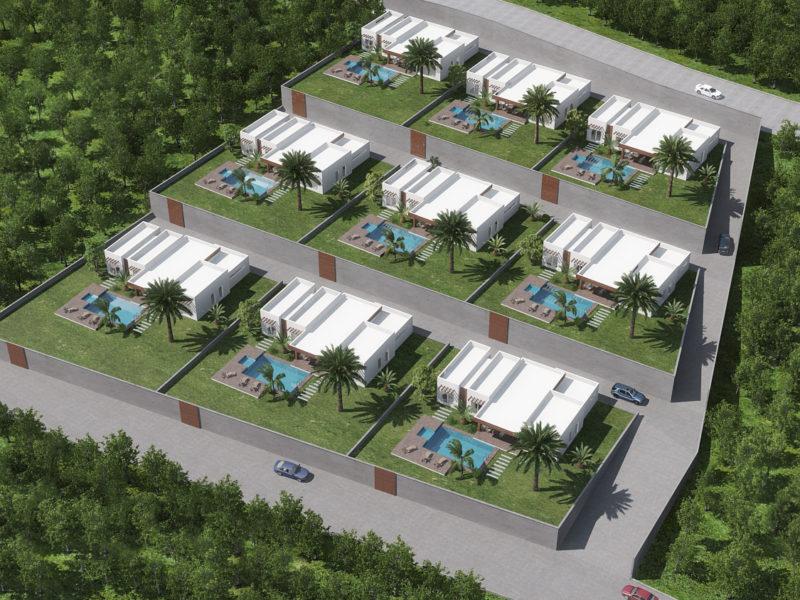 3D site plan rendering