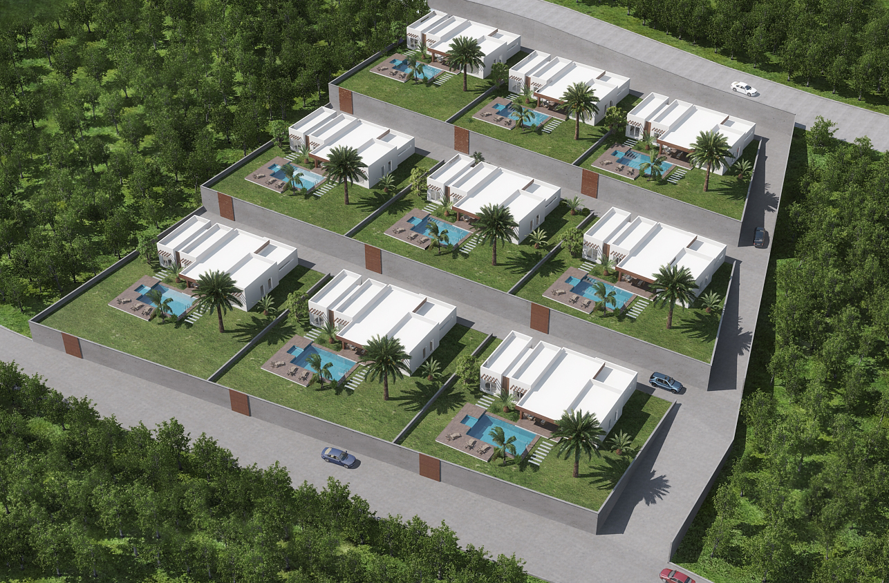 3D site plan rendering