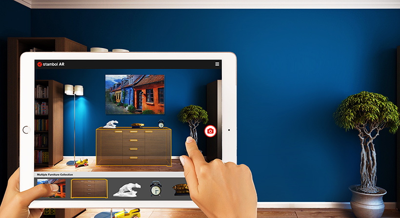 Interior Decoration with AR App on iPad