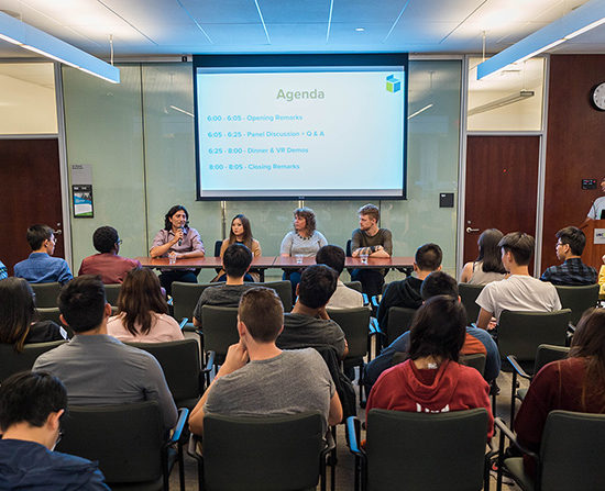 Stambol at Panel Discussion at UBC BizTech Event