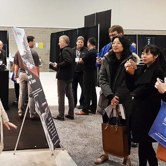 Crowd at Stambol Studios Booth at BuildEx Vancouver 2018