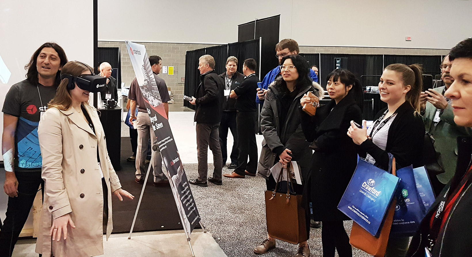 Crowd at Stambol Studios Booth at BuildEx Vancouver 2018