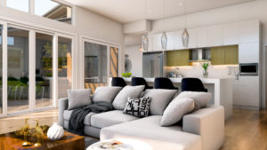 Predator Ridge Resorts Affinity Homes Eldorado Theme 3D Interior Rendering - Living Room