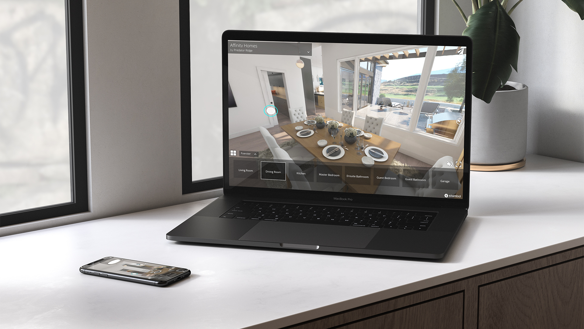 Wesbuild's Affinity Homes VR Walkthrough Experience on Laptop