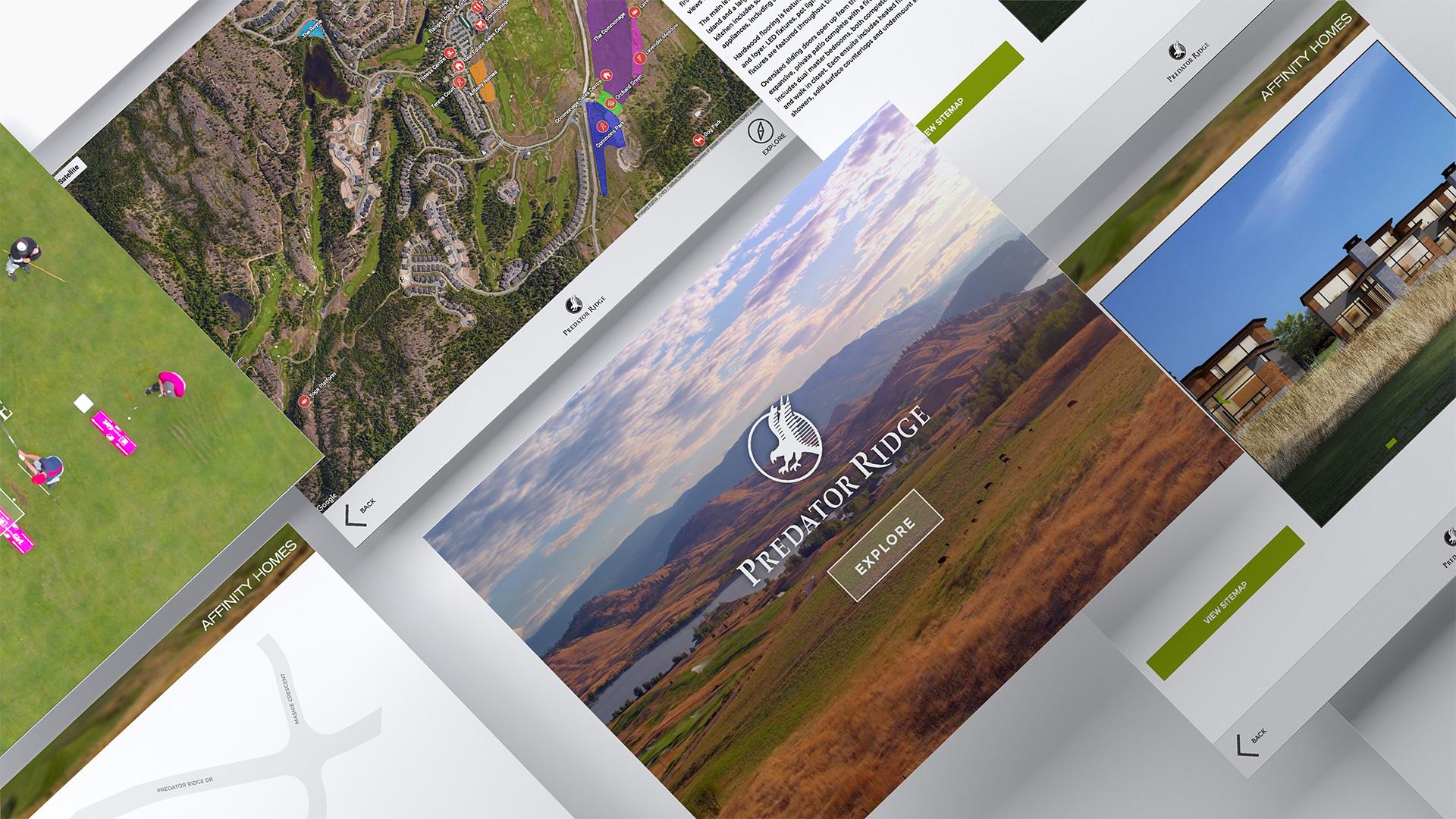 Predator Ridge Kiosk App UI Designs