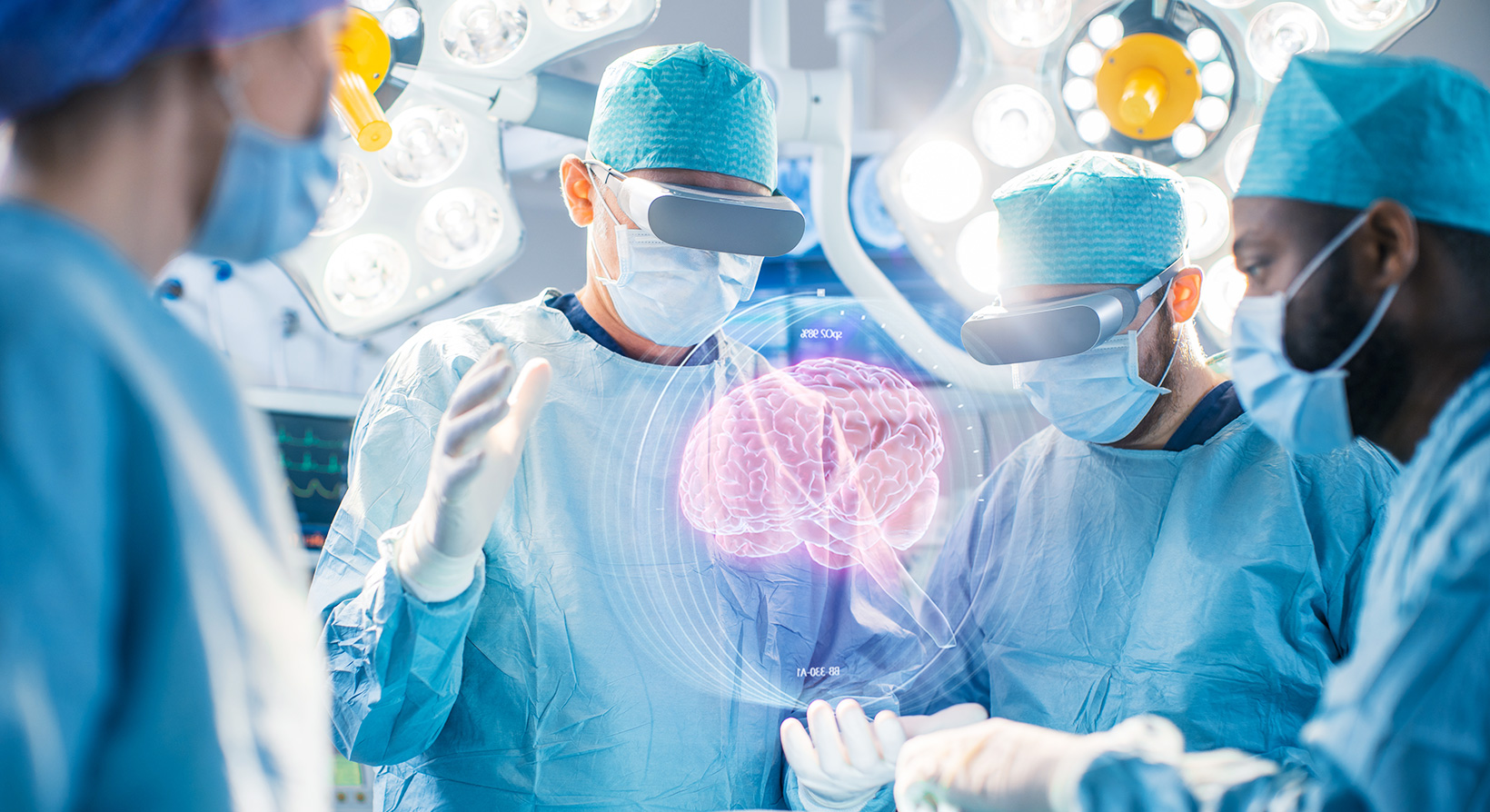 Surgeons Perform Brain Surgery Using Augmented Reality, Animated 3D Brain
