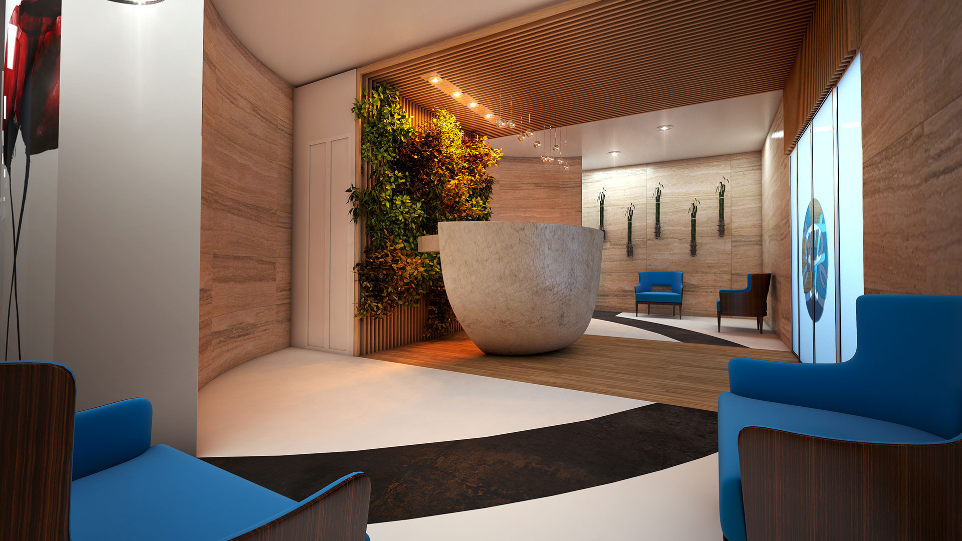 SilverFit Whole Health Studios Lobby Render