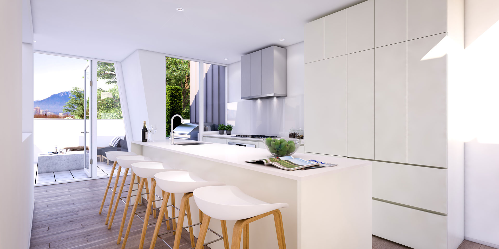 Turner's Dairy Townhouse Project - Unit 3 Kitchen Render