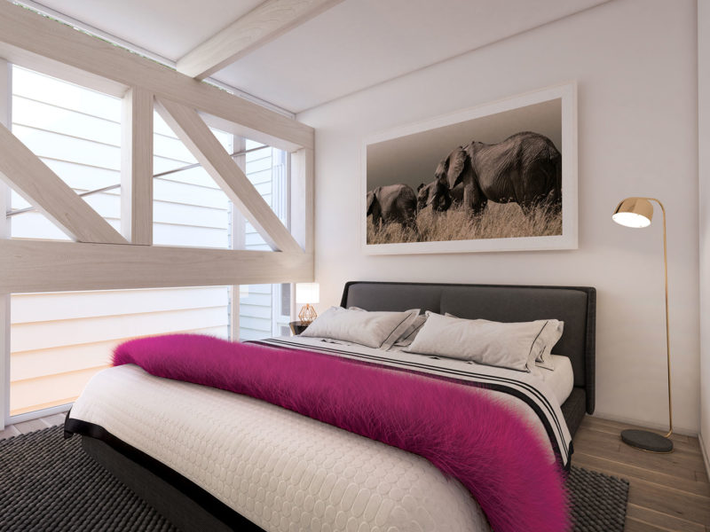 Turner's Dairy Townhouse Project - Unit 7 Bedroom Render