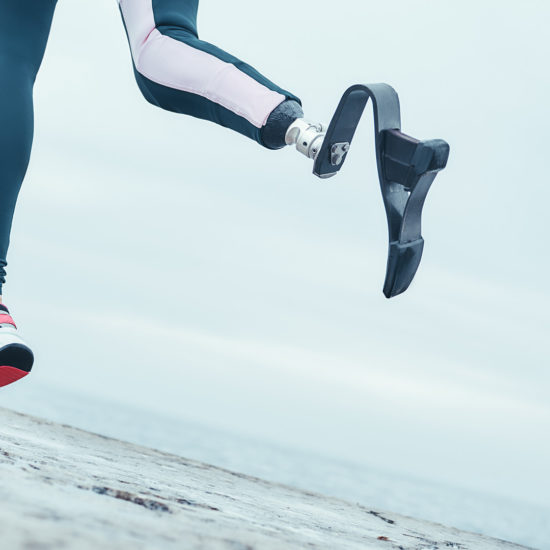 high tech prosthetics augments female runner