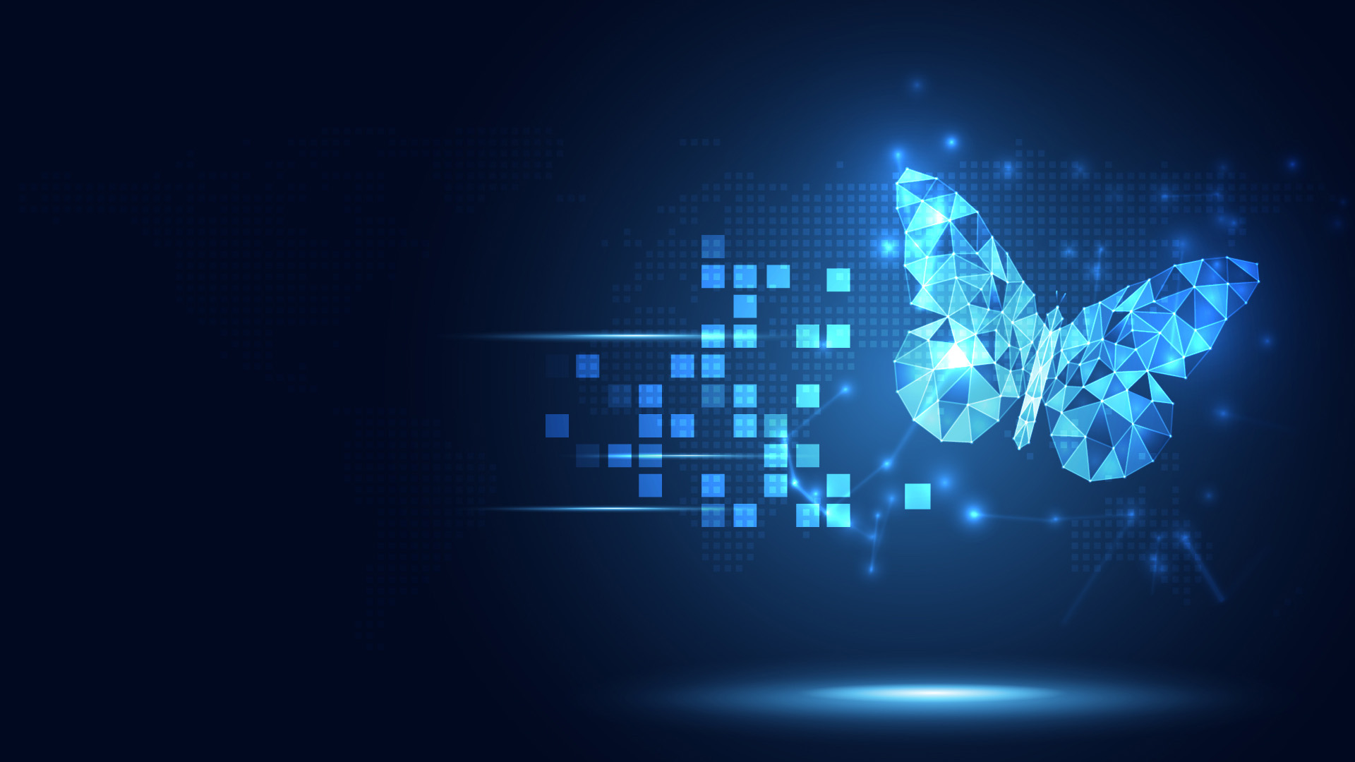 Futuristic blue gear digital transformation abstract technology background.