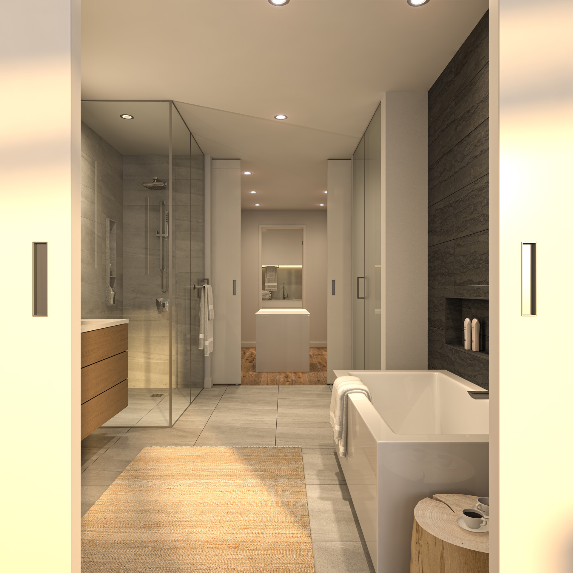 Bathroom Rendering from Pacific Point Unit A Penthouse
