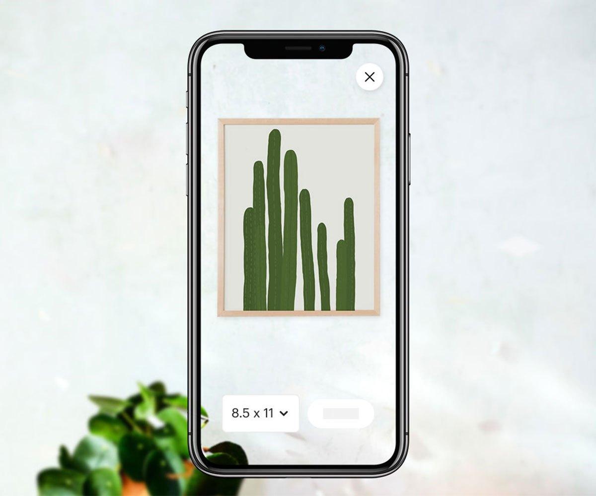 Etsy AR application on iOS
