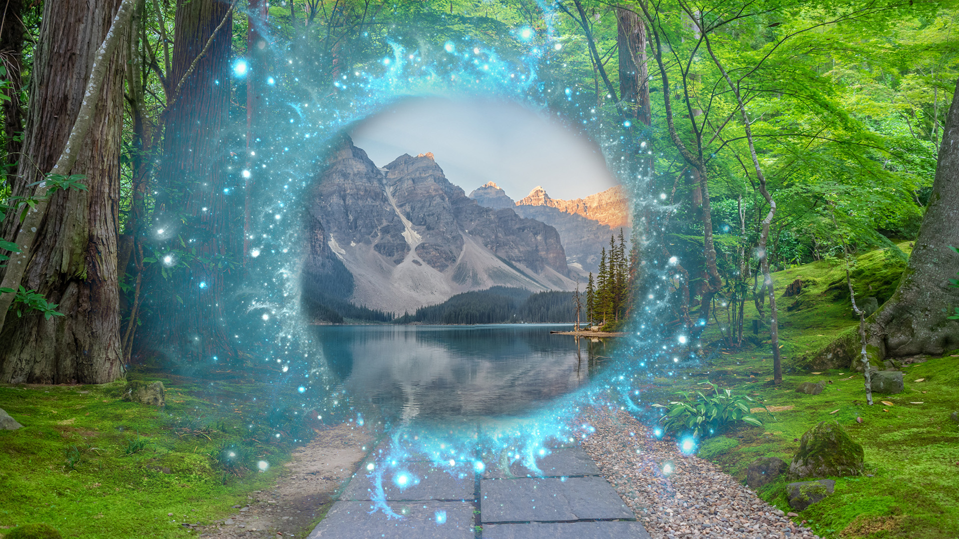 augmented reality magical portal lets people walk into another reality