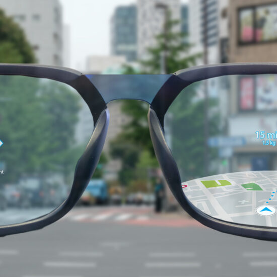 smartglasses show maps and navigation in augmented reality