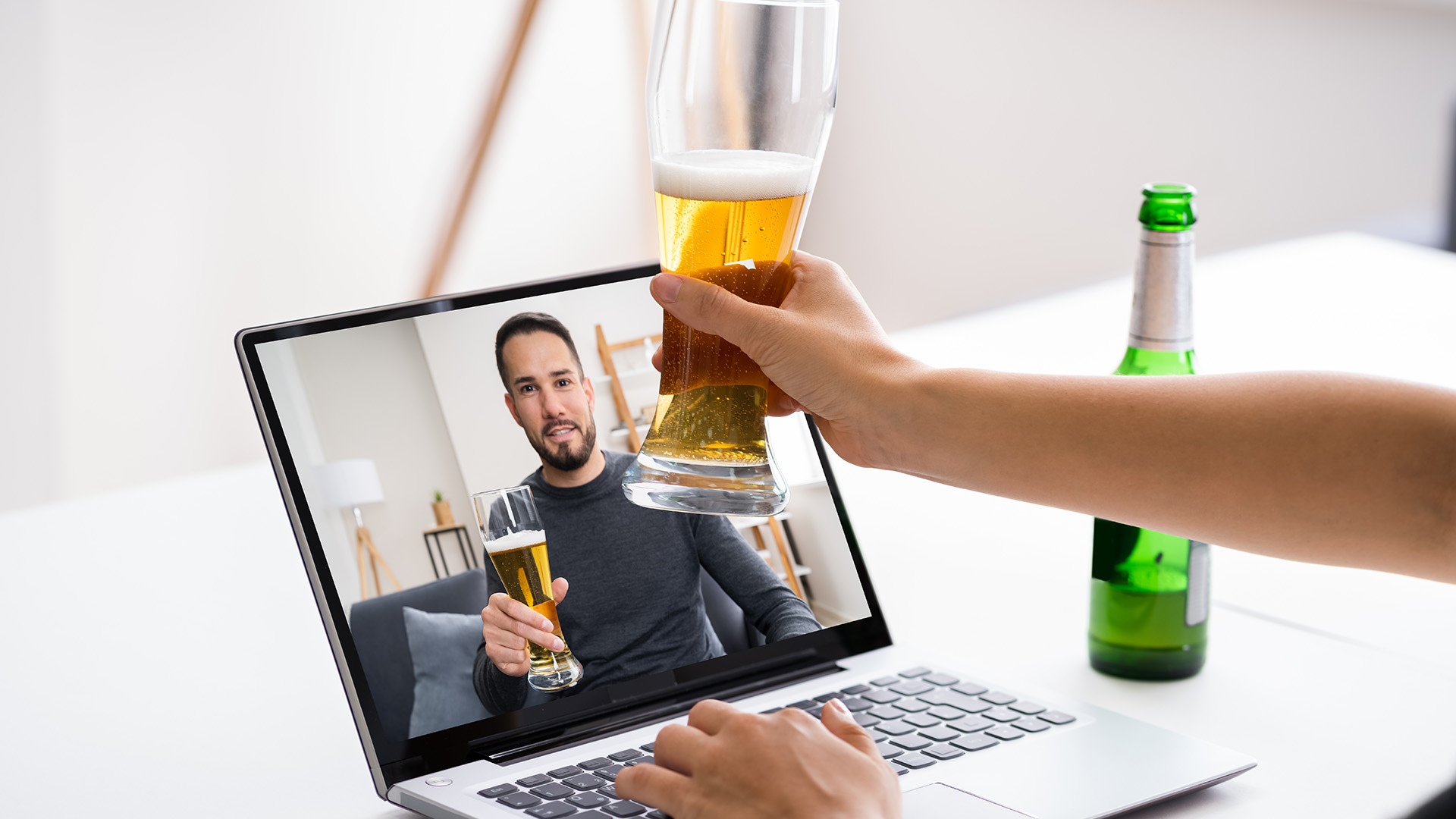 Virtual Beer Drinking Party